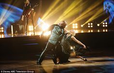 Singing star: Wanya Morris performed with new partner Witney Carson