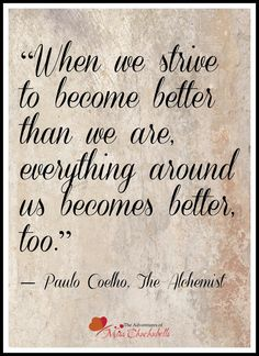 When we strive...