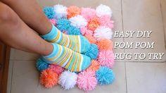 How To Make A Pom Poms Rug : Adorable Home Decor   #diy #pompomrug #rug