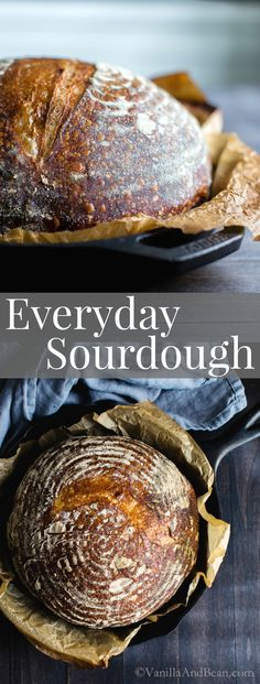 New to sourdough or improving your craft? New to sourdough or improving your craft? Emilies Everyday Sourdough from is a fabulous starting point for new and experienced sourdough bakers . Artisan Bread Recipes, Bread Maker Recipes, Easy Bread Recipes, Oven Recipes, Kitchen Recipes, Cooking Recipes, Dutch Oven Sourdough Bread Recipe, Sourdough Bread Starter, Recipe Breadmaker