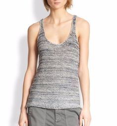 VINCE NEW Women's Designer Racer Back Sweater Tank Top Shirt Blouse Top L $220 #Vince #TankCami #Casual
