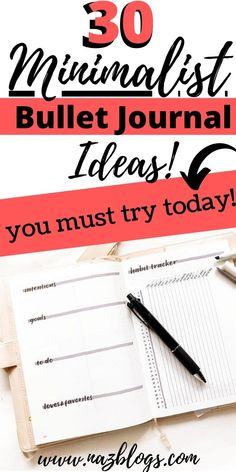 Here are 30 Minimalist Bullet Journal Spread/Layout ideas which are super easy to recreate and you must definitely check out today! #minimalistbulletjournal #spreadideas #bulletjournalideas #minimalistbulletjournallayout