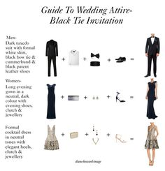 Guide To Wedding Attire Black Tie Invitation By Diane Howard Image On Polyvore