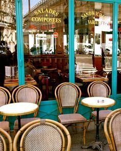 Paris Cafe Print  French Bistro Photograph  Kitchen by VitaNostra, $30.00