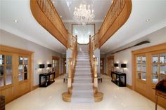 7 bedroom detached house for sale in Fulmer Common Road, Fulmer, Buckinghamshire, - Rightmove. Entrance Hall, Staircase Design, Detached House, Property For Sale, Stairs, House Design, Ceiling Lights, Staircases, Hallways