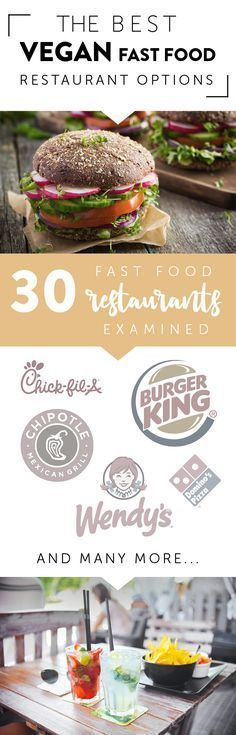 ♥ Vegan Products ♥ Vegans don't have to skip eating out at any of the most common restaurants and fast food joints! Social life and fulfilling cravings will become so much easier with this guide: find your best healthy vegan choices at 30 common places.