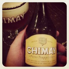 "Chimay. The trap daddy of Belgian beers. ""This monk's got the green, b*tches."" Chimay Triple by Pères Trappistes. The bitter and dangerously tasty one. The one that will leave you with just one question: how can I get one more? Addictive stuff. (Notre-Dame de Scourmont Abbey, Chimay, Belgium) (8.0% vol.) #chimay #tripel #beer #trapdaddy"