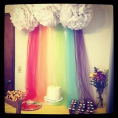 Cloud and rainbow display - great for classroom. Have a golden reading chair underneath, especially if the rainbow is curved along a wall. School Displays, Library Displays, Class Displays, Classroom Displays, Classroom Organization, Classroom Layout, New Classroom, Classroom Design, Classroom Themes