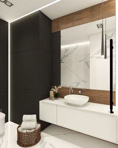 Apartament In Modern Style On Behance Interior Bathroom Bad Inspiration, Bathroom Inspiration, Bathroom Interior, Modern Bathroom, Light Bathroom, Toilette Design, Black Interior Design, Amazing Bathrooms, Modern Homes