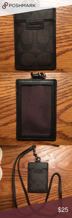 Coach ID tag holder Black and brown Coach ID holder. Perfect for school ID's! Coach Other