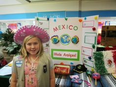 Mexico display for World Thinking Day. Coastal Community at Pembroke Mall