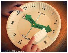 9a06a99bb018 Actividad reloj  horas y minutos Aprender Jugando