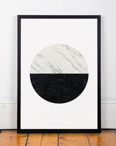 Minimalist print Marble print Geometric art by ShopTempsModernes