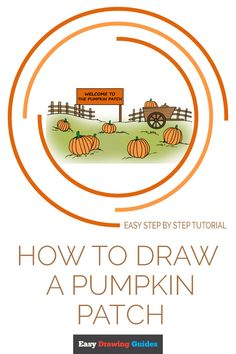 Learn to draw a pumpkin patch. This step-by-step tutorial makes it easy. Kids and beginners alike can now draw a great looking pumpkin field. Flower Drawing Tutorials, Drawing Tutorials For Kids, Drawing For Beginners, Art Tutorials, Fall Arts And Crafts, Easy Fall Crafts, Drawing Lessons, Drawing Tips, Drawing Ideas