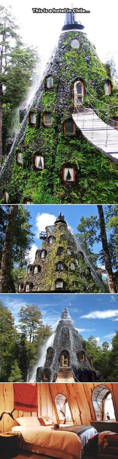 Montaña Mágica Lodge in Chile.-- Tanks that Get Around is an online store offering a selection of funny travel clothes for world explorers. Check out for funny travel tank tops and more travel destination guides Oh The Places You'll Go, Cool Places To Visit, Places To Travel, Travel Destinations, Dream Vacations, Vacation Spots, Adventure Awaits, Adventure Travel, Future Travel