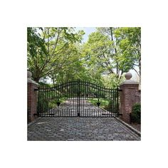 Exterior gate - contemporary - - new york ❤ liked on Polyvore featuring gate
