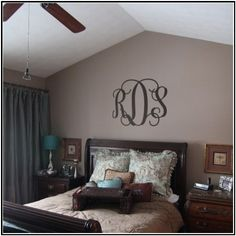 Wall monogram over the bed... a wonderful home decor statement