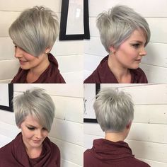 Welcomed this babe back to #pixieland and couldn't be more happier about it. #shesmyfavtocut #pixie #platinumpixie #silverhair #nothingbutpixies #pixie360 #pixiecut #emilyandersonstyling