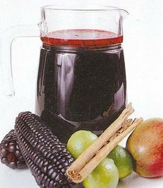 Chicha Morada--Peruvian drink made from purple corn.