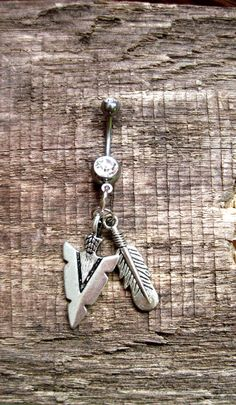 Belly button ring: Arrowhead warrior. $16.50, via Etsy.