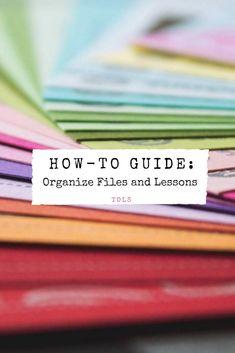 How-To Guide: Organize Files and Lessons - The Ordinary Love Story Math Teacher, School Teacher, Teacher Resources, First Year Teachers, New Teachers, Teaching Rules, Creative Teaching, Teaching Ideas, High School Classroom