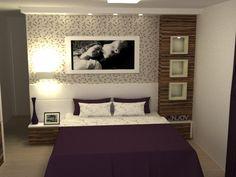 quartos casal com papel de parede - Pesquisa Google