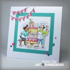 Art Impressions SC0794 Aged To Perfection from Michael's. Handmade birthday card.