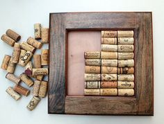 Wine Cork Crafts  DIY Bulletin Board Kit  made by TheWoodenBee