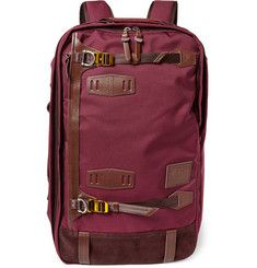 Master-PiecePotential Convertible Leather-Trimmed Canvas Backpack