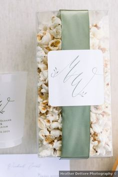 Wedding favors ideas - popcorn, kettle, initials, shot glass, custom {Heather Dettore Photography} Wedding Welcome Bags, Wedding Favors, Real Weddings, Initials, Wedding Photos, Place Card Holders, Gifts, Photography, Wedding Keepsakes