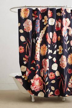 Michelle Morin Garden Buzz Shower Curtain #anthroregistry #home