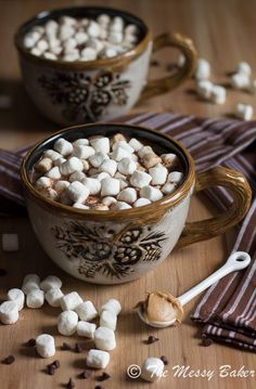 First up, hot chocolate! On The Occasion Of The Upcoming Holidays, We Bring You 20 Of The Best Hot Chocolate Recipes Hot Chocolate Bars, Hot Chocolate Recipes, Chocolate Peanuts, Chocolate Peanut Butter, Chocolate Smoothies, Chocolate Mouse, Chocolate Shakeology, Chocolate Crinkles, Chocolate Drizzle