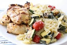 GRILLED ITALIAN CHICKEN & PASTA