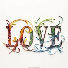 Unknown artist - Quilled heart pictures (Searched by ChauKhang)