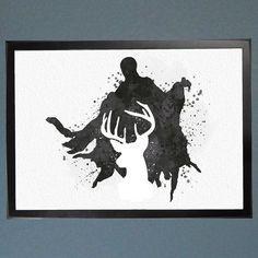 Resultado de imagen para dibujos de sombras de Harry potter