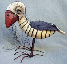 Birdie #ODACA artist, Art Rogers #clothdoll #mixedmedia #artdoll #artdolls #dollartist