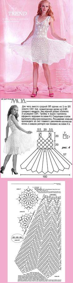 БЕЛОЕ ПЛАТЬЕ. МОДЕЛЬ ЖУРНАЛА МОД № 546. А МОЖНО И ТОЛЬКО ЮБКУ СВЯЗАТЬ!!! http://www.liveinternet.ru/users/olia2010/post169723077/