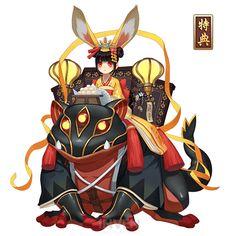 산토끼 - 음양사 인벤 - 식신 DB Character Costumes, Game Character, Character Concept, Concept Art, Character Ideas, Hybrid Art, Mediums Of Art, Anime Monsters, Magic Art