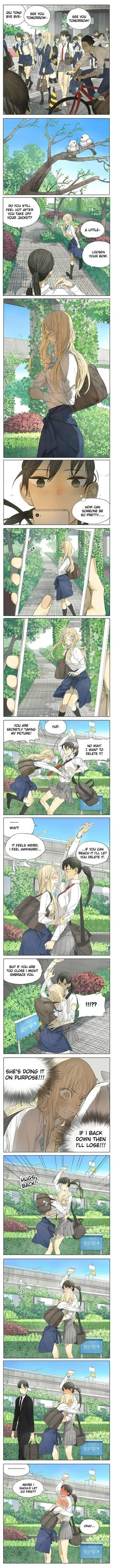Anime Couple :: Manga :: Tamen Di Gushi 98 :: Taking random pictures of your lover, because the scene, lighting, and actions are perfect. Adorable~