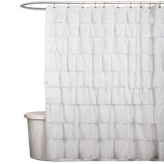 I pinned this Bianca Shower Curtain from the Beneath My Heart event at Joss and Main! Transform your master bath into a spa-worthy retreat with the Bianca Shower Curtain, showcasing a decadent ruffled design in crisp white.