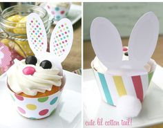easter bunny cupcake holders