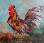 Coop the Chicken - painting by artist Kay Wyne | DailyPainters.com