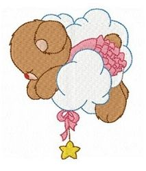 baby girl bears in the sky set 10 designs whats new machine embroidery designs swakembroiderycom fun stitch - PIPicStats Machine Embroidery Projects, Machine Embroidery Applique, Free Machine Embroidery Designs, Applique Patterns, Embroidery Stitches, Towel Embroidery, Hexagon Quilt, Baby Design, Baby Quilts