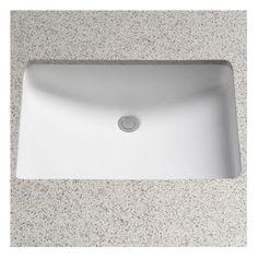 "Toto - Rimless Undermount Bathroom Sink with SanaGloss Glazing Cotton $191 / Basin: 21.25"" L x 14.38"" W x 7.875"" D"