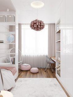 Tiny Bedroom Design, Home Room Design, Small Room Design, Girl Bedroom Designs, Room Ideas Bedroom, Small Room Bedroom, Bedroom Layouts, Bedroom Decor, Aesthetic Room Decor