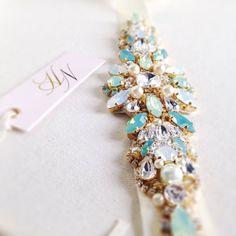 Opale cristal Bridal ceinture Swarovski par HelenaNoelleCouture