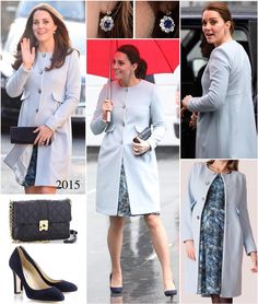 """Catherine Duchess of Cambridge (@theelegantduchess) on Instagram: """"Today we see the return of Kate's powder blue Seraphine Natasha Coat as she continues to shine the…"""""""