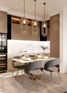 Kitchen Room Design, Home Room Design, Modern Kitchen Design, Home Decor Kitchen, Interior Design Kitchen, House Design, Home Living Room, Living Room Decor, Aesthetic Room Decor