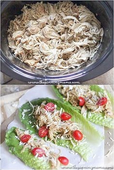 This 3 ingredient crock pot recipe is one of the most flavor filled chicken dinners you will ever have! Crock pot caesar chicken from thepinningmama.com