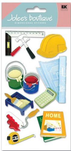 Construction > Under Construction 3D Stickers - Jolee's Boutique: Stickers Galore  $5.49